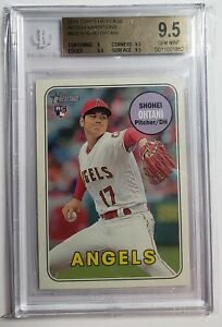 2018 Topps Heritage Shohei Ohtani Action Variation BGS 9.5