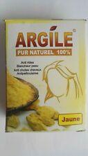 100%pure organic natural yellow clay argile powder mask deep cleaning  skin hair