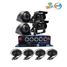 1080P 4CH GPS WIFI AHD 512GB SD Car DVR MDVR Video Recorder Rear View Car Camera