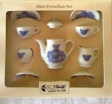 "STEIFF ""MINI PORCELAIN SET"" EAN 613708 MINIATURE TEA SET WITH BEAR DECOR"