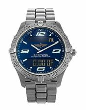 Breitling Quartz (Battery) Titanium Strap Round Wristwatches