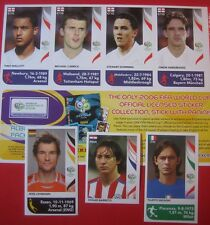 Panini WM 2006 -- 4 Engländer Bogen + Barreto + Inzaghi + Lehmann World Cup 06