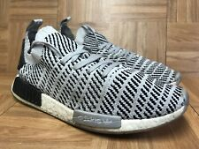 6cc4ed935 Worn🔥 Adidas NMD R1 Originals Primeknit Gray Oreo Black White 11.5 CQ2387  Men s