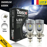 2X 55W H4 26000LM haut bas Amélioré Voiture CREE LED phare lampe Kit blanc 6000K