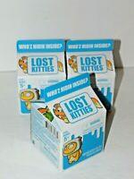 Lot of 3 Hasbro LOST KITTIES  Series 1  Blind Boxes Mini Cartons - From LPS
