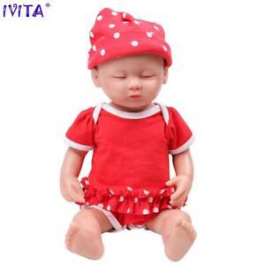 15in Girl Eyes Closed Full Body Silicone Reborn Dolls Babies Born W/Clothes