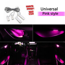 4PCS Pink Auto Car Door Bowl Handle LED Ambient Atmosphere Light Interior