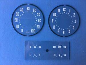 1937 Packard Six & 120 Speedometer, Gauge , and Clock glasses