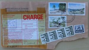 Nevis 1982 cover front with Customs charges 1.80 due stamps