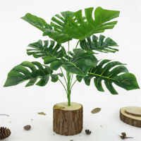 1X ARTIFICIAL PLANT FAKE GREEN MONSTERA FOLIAGE LEAF OFFICE HOME DECOR FADDISH