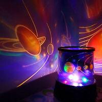 CHILDRENS UNIVERSE PLANET NIGHT LIGHT SKY LED PROJECTOR MOOD LAMP KIDS BEDROOM