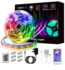 LED Strips Lights, L8star Led Lights 5m/16.4ft Color Changing SMD 5050 RGB...