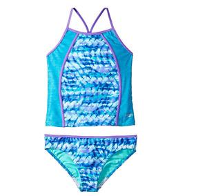 Speedo Rhythmic Tie Dye Tankini Two Piece Swimsuit Juniors Size 7