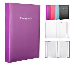 Large Purple Memo Slip In Photo Album Holds 300 6 x 4 Photos (10x15cm)