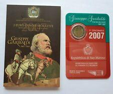 Coffret 2 euro San Marin 2007 Garibaldi