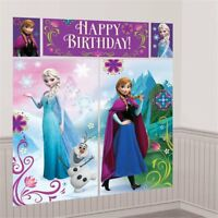 Disney Frozen Princess Girls Birthday Party Wall Scene Set Banner Decoration Kit