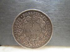 monnaie piece 5 F francs 1849 A ceres