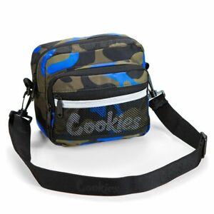 "Cookies SF Vertex Ripstop Smell Proof Blue Camo Shoulder Bag 8"" x 9.5"""
