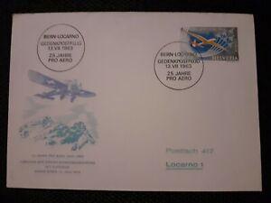 Enveloppe 1963 Suisse Bern- Locarno Voir Timbre et Cachets