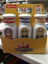 Fisher Price Barnyard Basics - 6 Milk Bottles in Original Box - Dated 2007