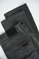 RRP $110 NUDIE THIN FINN POOR BLACK Men's W34/L32 Grey Organic Jeans 4217_mm