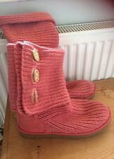 Genuine Pink Knitted Multi Style Ugg Boots Size U.K. 7.5 Eur 40