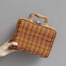Straw Square Vintage Bohemia Handbag Messenger Tote Bag Basket Shoulder Bags