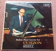 1962 BRAHMS PIANO CONCERTO NO. 1 CURZON / SZELL DECCA LXT 6023 - EXC