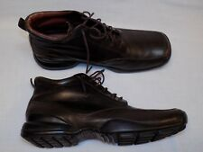 Kenneth Cole New York US 9.5 Brown Leather Lace Up Ankle Boots Square Toe Shoes