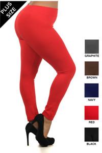 Plus Size 24-28 Premium Cotton Full Length Leggings! Top Quality Uk Stock