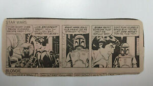 STAR WARS Newspaper Comic Strip - BOBA FETT            / Thursday July 10th 1980