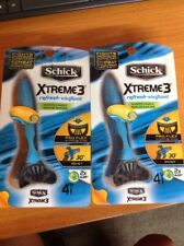 Lot of (2) Schick Xtreme3 Men's Refresh Scented Razor - 6 Count -12 Total
