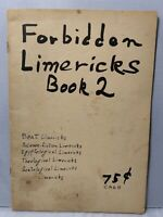 FORBIDDEN LIMERICKS Ca. 1960 Beatmik Underground Paperback Risque Cartoons VTG