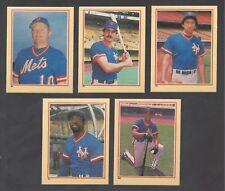 New York Mets 1984 Fleer Stickers team set, Darryl Strawberry rookie, Hernandez