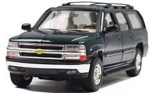 1:24 Escala 2001 Chevrolet Suburban 4x4 SUV Welly Coche de Modelo Green 1:26