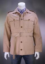 * TOM FORD * Rose Khaki Cotton Belted Safari Military Coat Jacket 42/Lage