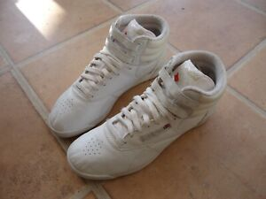 AUTHENTIC WOMEN'S REEBOK CLASSIC HI TOPS/TRAINERS/BOOTS SIZE 7