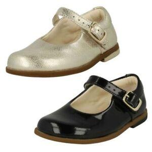 Clarks Girls Buckle Fastening School Shoes 'Drew Sky'