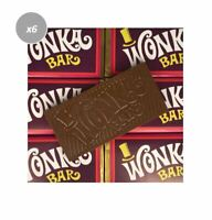 6 x 50g WONKA MILK CHOCOLATE BARS FIND GOLDEN TICKET CHANCE WIN TRIP DISNEYLAND