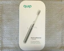NEW & SEALED! QUIP METAL Electric Toothbrush Sonic SILVER Travel set waterproof