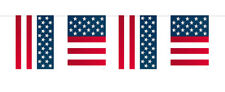 Party Decoration USA Themed Bunting Flags 10 Meters - 10m America American