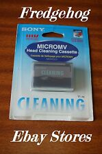 SONY MGRCLD MICRO MV CAMCORDER GENTLE  DRY TYPE HEAD CLEANING TAPE / CASSETTE
