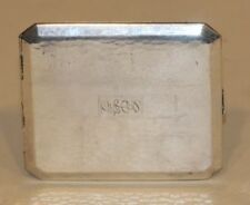 Napier Art Deco Hand Hammered Sterling Silver Gold Washed Cigarette Case 1207