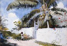 """Winslow Homer, """"A Garden in Nassau"""",  15.125""""h x 22""""w, Digital print"""