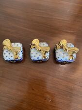 New Listinglimoges france peint main trinket box, Lot Of 3 New Star Of David Gift Boxes