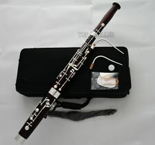 High Grade Maple Wood Mini children Bassoon Silver Plated Key F Tone with Case