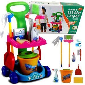 Putzwagen Kinderputzwagen Kinderwagenset Reinigungstrolley Putzset