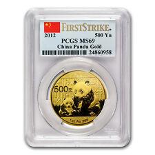 2012 China 1 oz Gold Panda MS-69 PCGS (FS) - SKU#73876