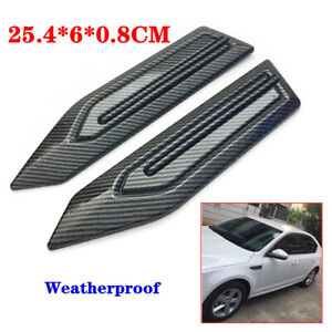 Car Leaf Board Decal Carbon Fiber Side Fender Cover Sticker ABS Self-Adhesive