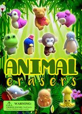 Vending Machine $0.25/$0.50 Capsule Toys - Animals Erasers